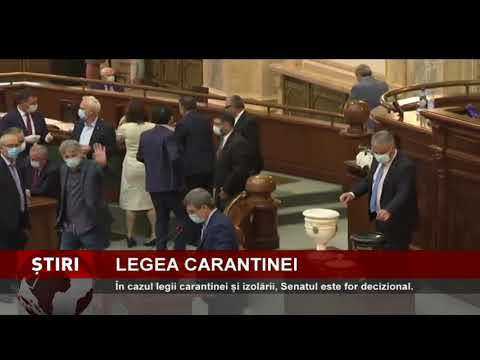 Legea carantinei merge la Senat