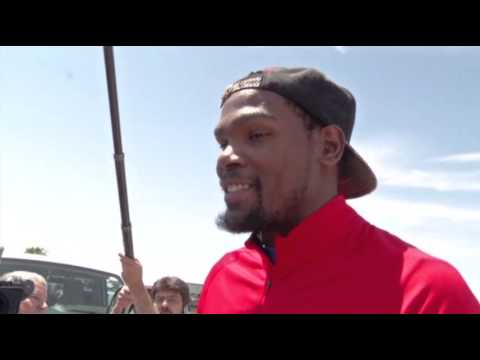 kevin - A day after he pledged $1 million dollars to help tornado victims, Oklahoma City Thunder star Kevin Durant visited the disaster area. (May 22)