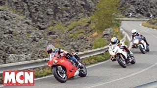 7. Ducati Panigale 899 fights Suzuki and Triumph   Group Test   Motorcyclenews.com