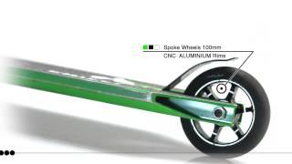 Chilli - 3000 Shredder - zelená - koloběžka