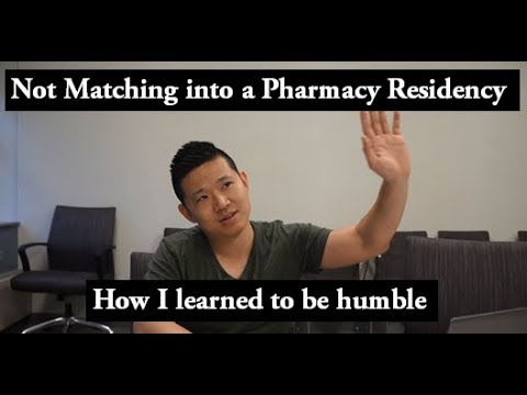 How I learned to Be Humble after NOT matching a Pharmacy Residency