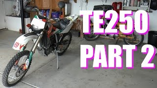 7. Taking Apart A Motorcycle In 5 Minutes - TE250 Part 2