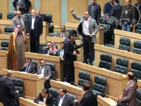 Jordanian MP pulls a gun in parliament leading to chaos