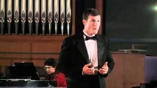 Tenor Jonathan Blalock sings