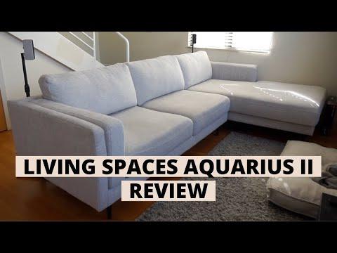 Living Spaces Aquarius II Sectional Review   Sofa Review