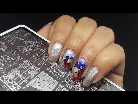 Diseños de uñas - Diseño uñas unicornios arcoiris Born Pretty Store