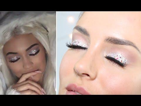Kylie Jenner 'Snow Angel' Halloween Crystal Eye Makeup
