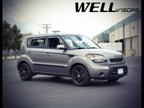 WELLvisors side window deflector vent visor Installation Video KIA SOUL 10-13