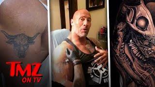 "The Rock ""Evolves"" His Infamous Bull Tattoo! | TMZ TV"
