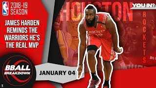 Video James Harden Reminds The Warriors He's The Real MVP MP3, 3GP, MP4, WEBM, AVI, FLV Agustus 2019