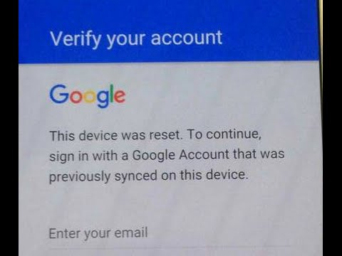 This Device Was Reset To Continue, Sign In With A Google Account Previously Synced On This Device