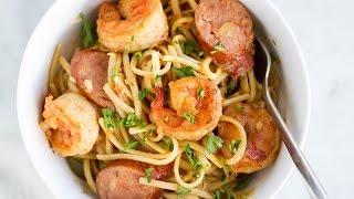 One-Pot Cajun Shrimp Sausage Pasta by Tasty