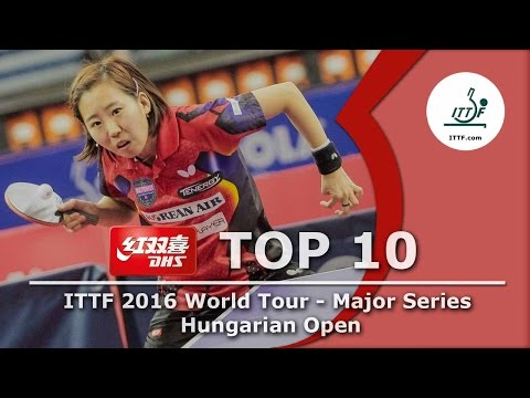DHS ITTF Top 10 Shots - 2016 ITTF Hungarian Open