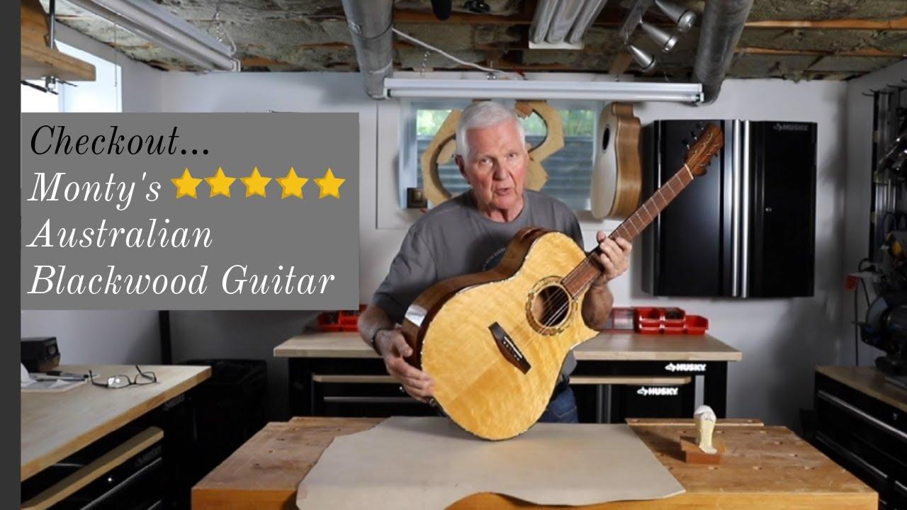 Check out Monty's Australian Blackwood acoustic guitar!