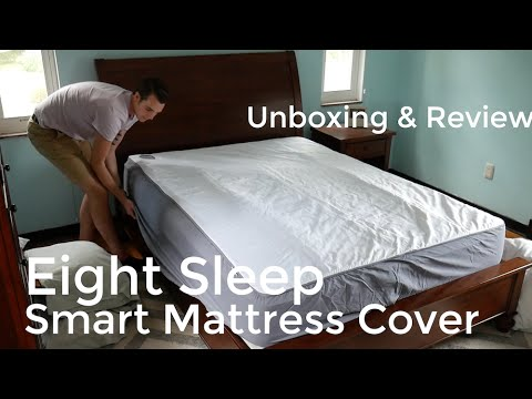 Eight Sleep Smart Mattress Cover Unboxing | Setup, Review, and App Walk Through (видео)
