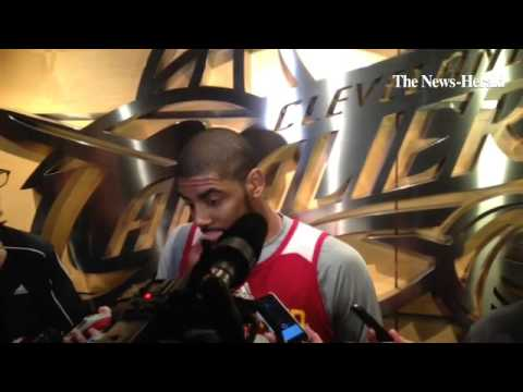 Cavs point guard Kyrie Irving says he will play tonight and talks about the trade that sent Dion Wai
