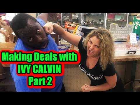 PART 2 Storage Wars Visting Ivy Calvins Store Grandmas Attic Abandoned  CASH