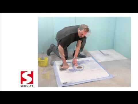 Dusch-Bodenelement Montage - barrierefreies Duschen | Schulte