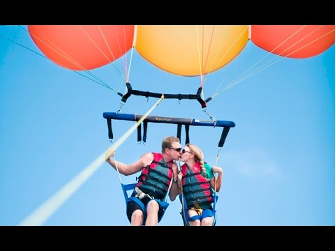 Parasailing In Goa, Baga Beach, India, water sports GoPro video By- Amit Kumar (Ginni)