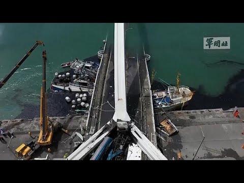 Ταϊβάν: Έξι τραυματίες σε κατάρρευση γέφυρας