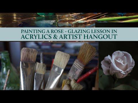 Glazing a rose Part 2 - Livestream & Artist Hangout