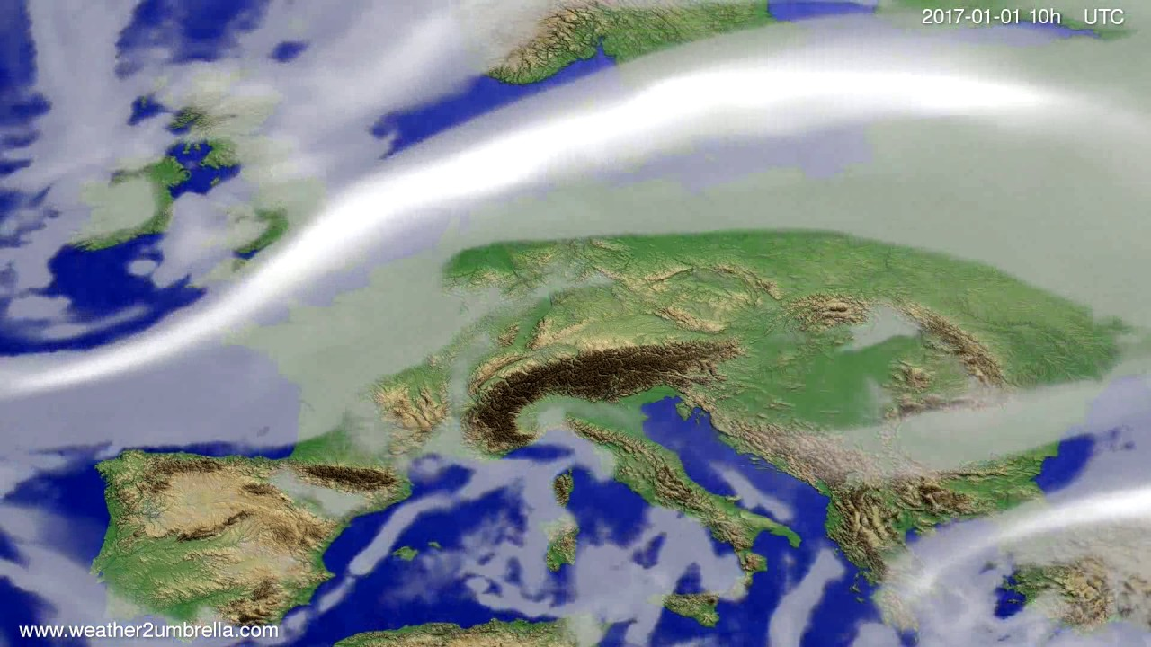 Cloud forecast Europe 2016-12-30