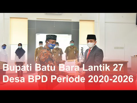Bupati Batu Bara Lantik 27 Desa BPD Periode 2020-2026