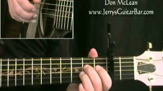 How To Play Don McLean Castles in the Air intro only