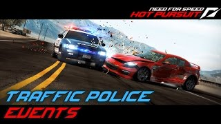 NFS: Hot Pursuit (2010) Playlist: https://www.youtube.com/playlist?list=PLi-a_-JYhWjsi7Zt9vGoZFpXuI0uUhBd4* Traffic Police- Chase 101 (01:34)• An erratic driver in a smashed up car should be an easy bust for a new recruit.• Used ride: Ford Crown Victoria- Escape to the Beach (04:11)• Respond to reports of dangerous driving in the vicinity of Mission Beach. Locate the three racers and shut them down.• Used ride: Subaru Impreza WRX STI- Reventón Reveal (07:27)• Hit the streets in the Lamborghini Reventón Interceptor. Blast it to the end of Mystic Lake Road as fast as you can. No damage; no time penalties.• Used ride: Lamborghini Reventón- Block Buster (11:17)• Call in roadblocks to help you stop this tough suspect.• Used ride: Ford Police Interceptor- Lightning Reflex (13:39)• Drive east on Cascade Terrace. It's just you and the open road in a heavily customised police car, but don't get cocky! Damage to the car will earn you penalties.• Used ride: Nissan 370Z- Fighting Dirty (17:50)• Leave the road and hit the dirt to make the arrest. Your vehicle has been equipped with spike strips. Make them count.• Used ride: Subaru Impreza WRX STI- Do Look After It (19:54)• Seacrest County PD has just taken delivery of the Aston Martin One-77. It's the world's most expensive production sports car, so drive safe. You'll pick up time penalties for hitting anything.• Used ride: Aston Martin One-77- Dark Horse (22:56)• Street race in progress heading on Lost Horse Road. Use spike strips and road blocks to shut it down before the drivers reach the finish.• Used ride: Mazda RX-8Used device: KeyboardRecording Software: Shadowplay (NVIDIA GTX 760)Video Editing Software: Adobe Premiere Pro CS6