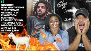 J COLE SNAPPED 😱🔥| 21 Savage - A Lot ft. J Cole (Official Audio) #21savage #iamiwas| REACTION!!