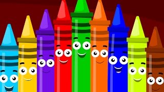 Ten In The Bed | Crayons Color Song | Crayons Ten In The Bed | The Ten In The Bed | Kids Tv Rhymes