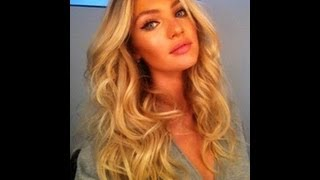 VICTORIAS SECRET HAIR tutorial for BEACH WAVES / CURLS No HEAT like Candice Swanepoel Marissa Miller - YouTube