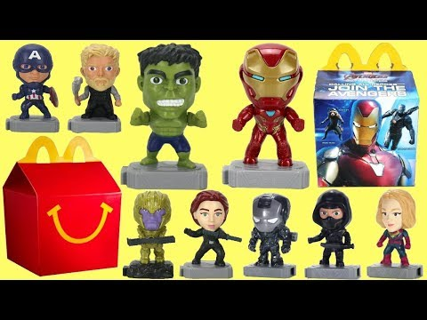Showing the 2019 Avengers Endgame McDonald's Happy Meal