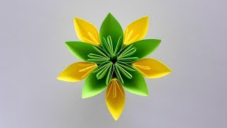 Easy Paper Flower. How to Fold Origami Flower