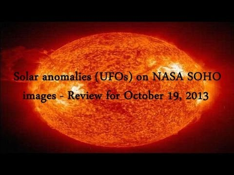 Solar anomalies (UFOs) on NASA SOHO images – Review for October 19, 2013