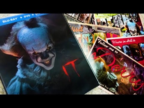 Stephen King's IT (2017) TARGET EXCLUSIVE Lenticular Slipcase Blu Ray & DVD Unboxing