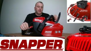 5. Snapper 16-Inch 60V Brushless Chainsaw  Battery and Charger Unboxing walmart clearance 2018 #Snapper
