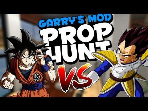 Garrys Mod - Goku Vs. Vegeta (Garry's Mod Prophunt)