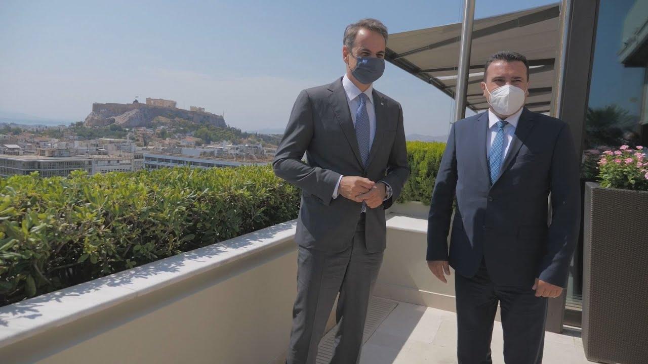 Συνάντηση του Κυριάκου Μητσοτάκη με τον Πρωθυπουργό της Βόρειας Μακεδονίας, Zoran Zaev