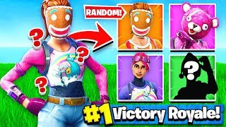 Using RANDOM SKINS to WIN Fortnite: Battle Royale!