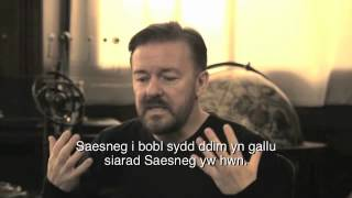 Ricky explores the English language with Karl Pilkington. This video has Welsh subtitles. Follow Ricky on Twitter @ http://www.twitter.com/RickyGervais The ...