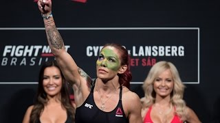 Weigh-in: Cyborg vs Lansberg | Fight Night Brasilia by UFC on Fox