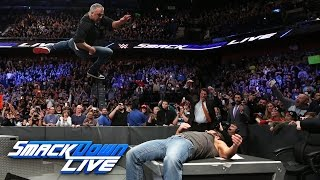 Nonton Shane McMahon hits AJ Styles with an elbow onto the announce table: SmackDown LIVE, Mar. 21, 2017 Film Subtitle Indonesia Streaming Movie Download