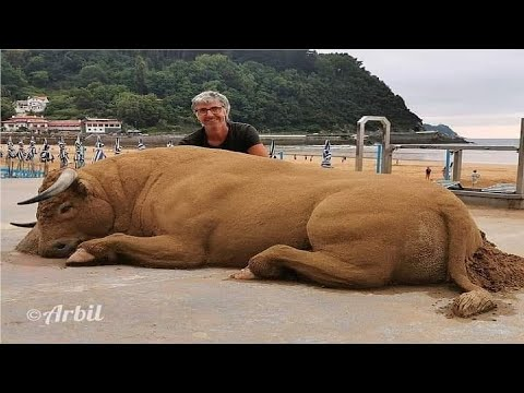 Incredibly Realistic Sand Sculptures Of Animals By Andoni Bastarrika