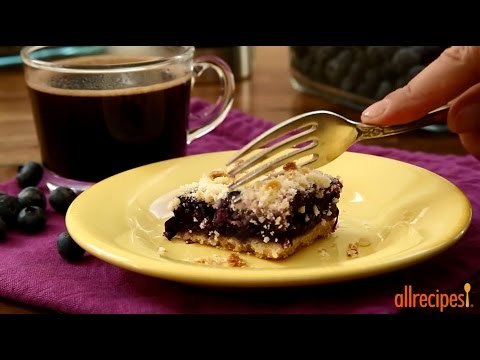 Dessert Recipes – How to Make Blueberry Crumb Bars