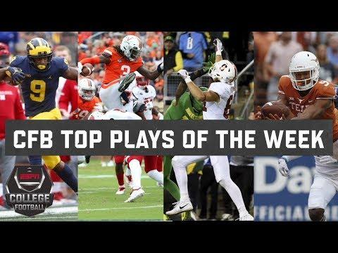 Top 10 plays of college football Week 4 | ESPN (видео)