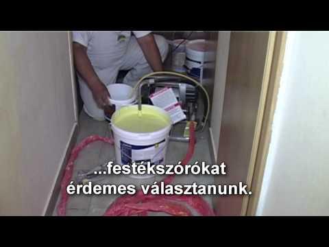 Festékszórók használata