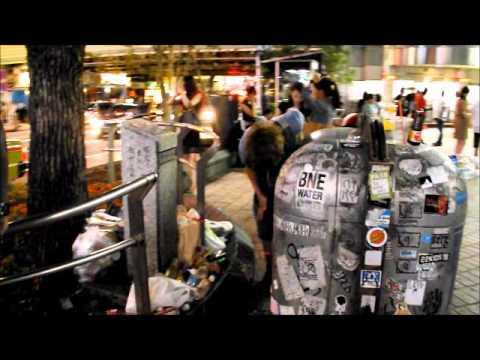Shibuya Station Puke Night (видео)