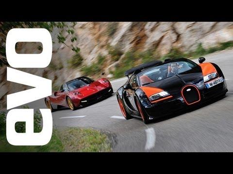 Bugatti Veyron Vitesse vs Pagani Huayra | evo DIARIES