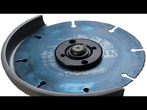 Резка дерева болгаркой стала безопасной с новым карбид вольфрамовым диском Bosch